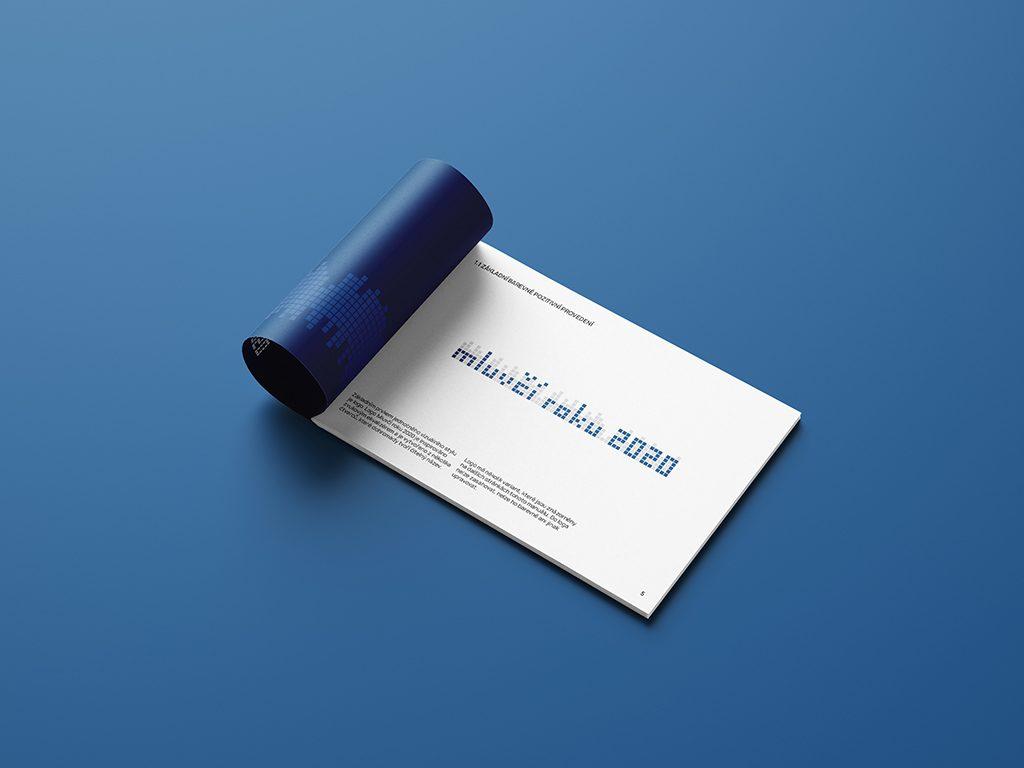 Návrh na grafický manuál Mluvčí roku 2020 logo základní