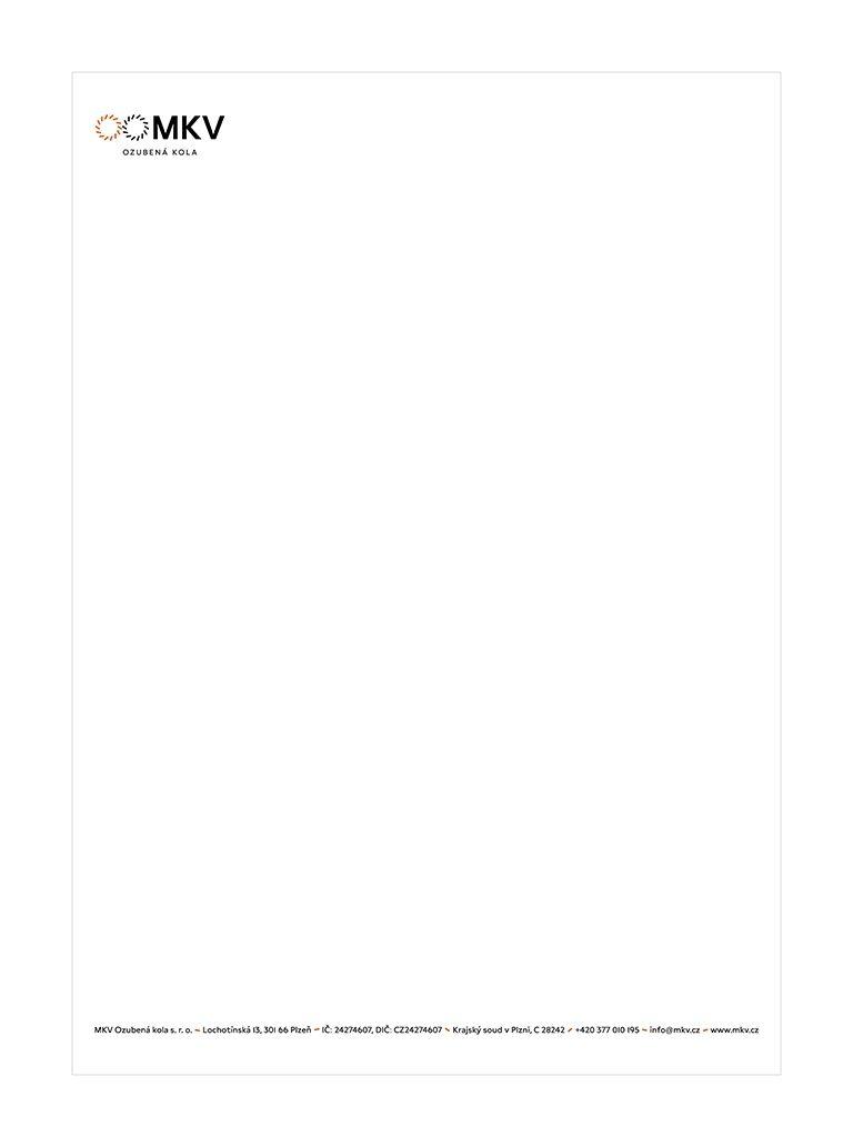 Návrh na hlavičkový papír MKV Ozubená kola