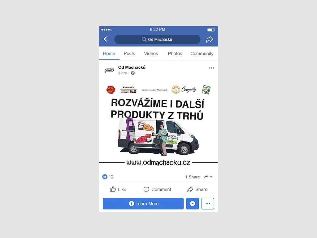 Tvorba grafiky pro sociální sítě příspěvek na Facebook Od Macháčků