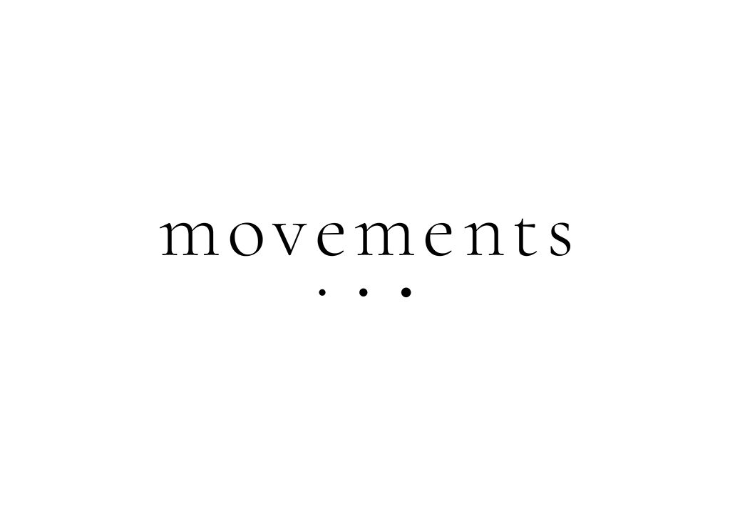 Tvorba loga na míru Movements černobílé