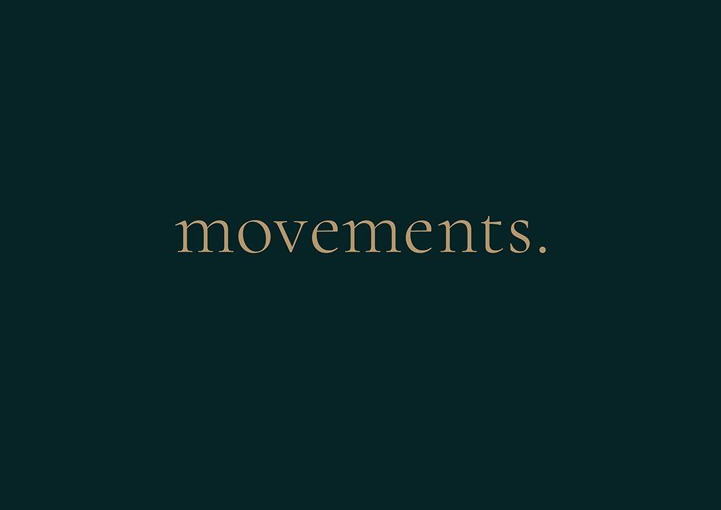 Tvorba loga na míru Movements media s tečkou