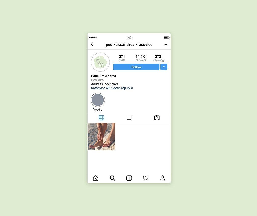 Tvorba loga náhled na Instagramu