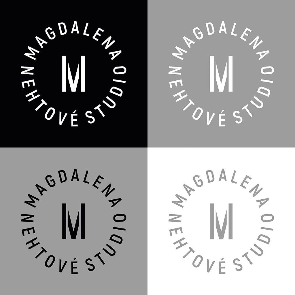 Tvorba loga Nehtové studio Magdalena logo varianty