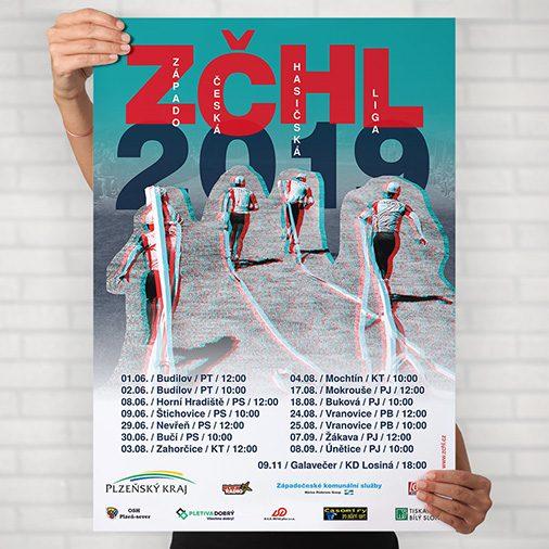 Tvorba plakátu Západočeská hasičská liga 2019