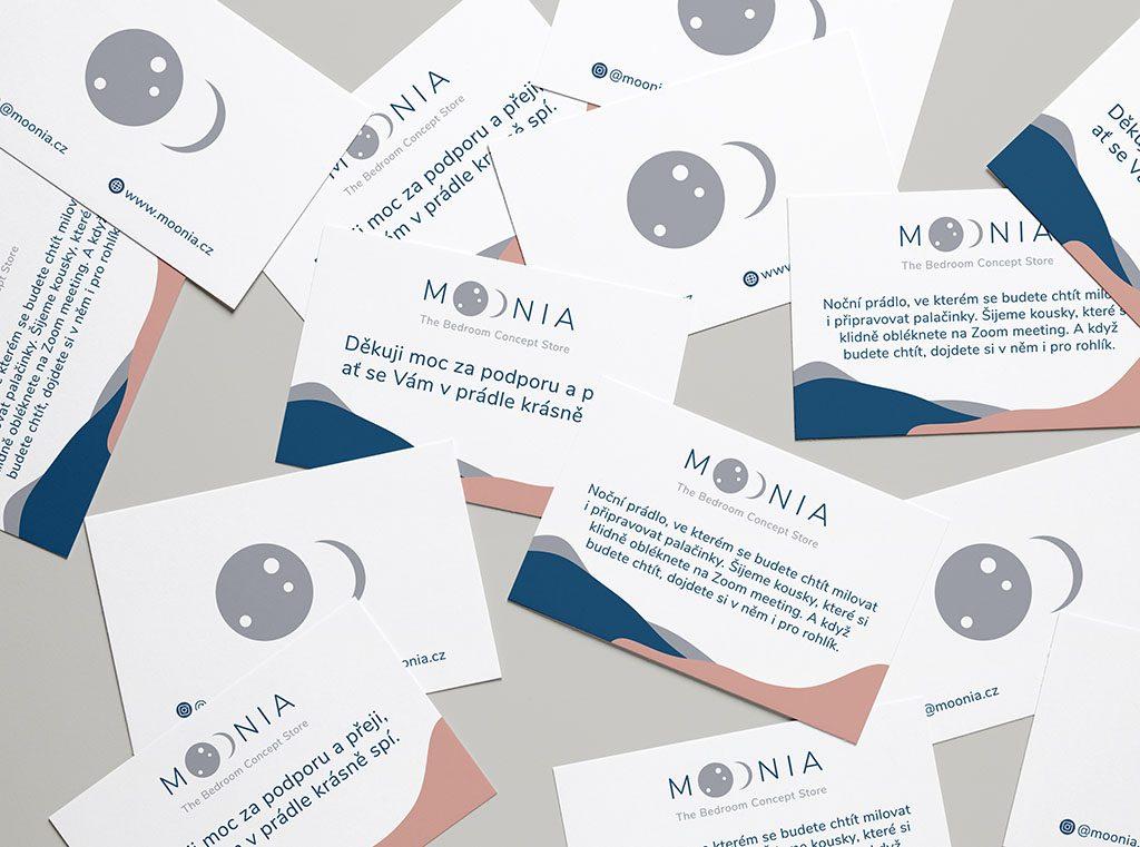 Tvorba vizuálního stylu Moonia kartičky
